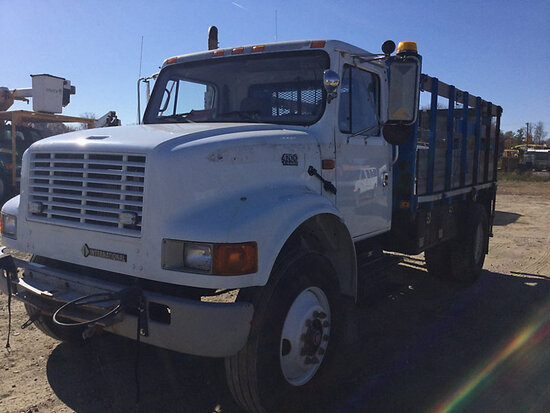 2002 International 4700 Stake Truck Runs & Moves