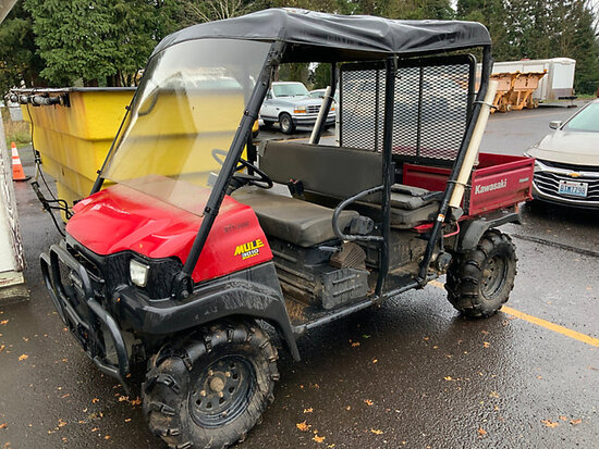 2007 Kawasaki Mule 3010 4x4 4 Wheel All-Terrain Vehicle No Title, Runs & Moves
