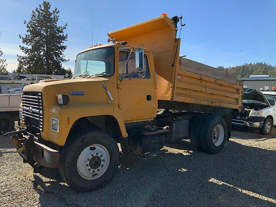 1992 Ford L8000 Dump Truck Runs, moves, operates