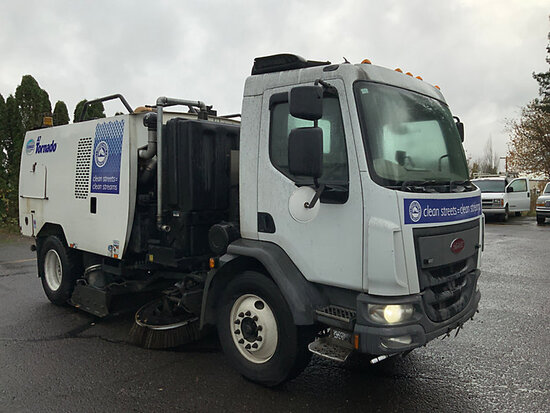 Schwarze A7 Tornado, Street Sweeper mounted on 2016 Peterbilt 220 Street Sweeper Truck Runs & Moves,