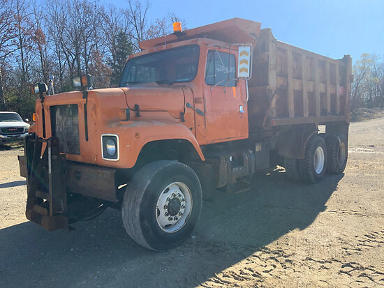 1997 International 2554 T/A Dump Truck Not Running, Bad Batteries, Air Filters In Cab, Operating Con