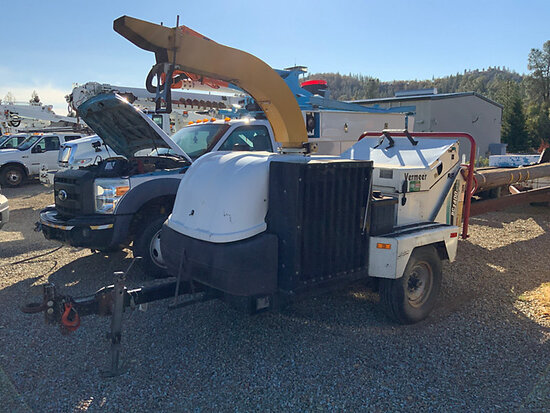 "2006 Vermeer BC1400 Chipper (14"" Drum), trailer mtd Runs and Operates, with set of manuals"
