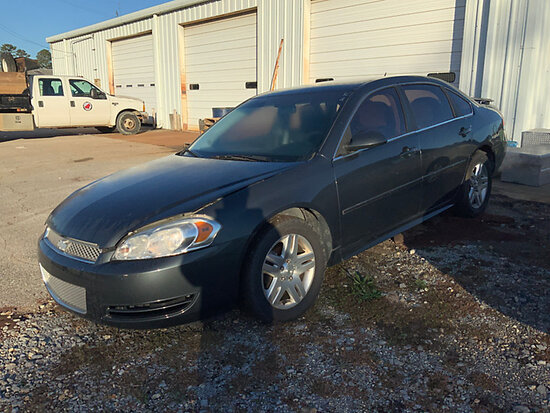 2013 Chevrolet Impala 4-Door Sedan, Municipality Owned Starts, Runs & Moves, has suspension damage o