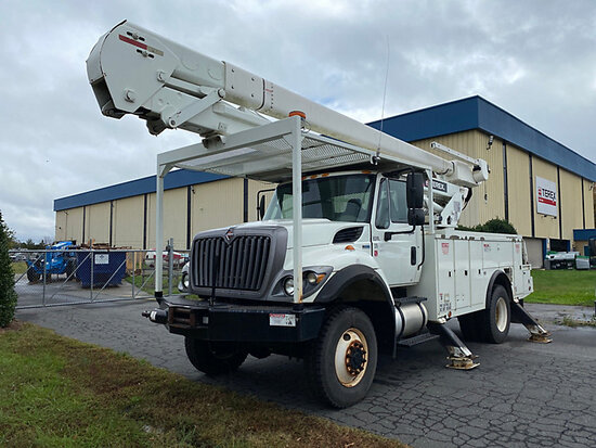 Terex/Telelect HiRanger 5TC-55, Material Handling Bucket Truck rear mounted on 2013 International 73