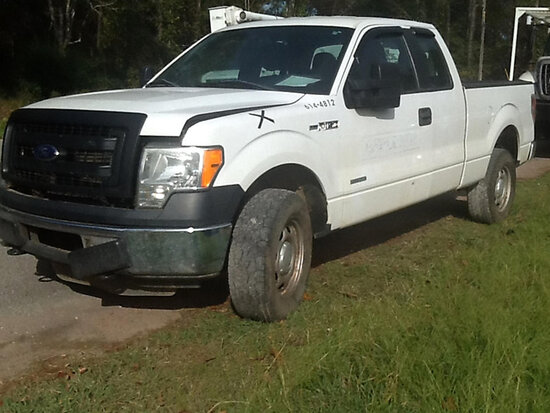 2014 Ford F150 4x4 Extended-Cab Pickup Truck Not Running, Condition Unknown