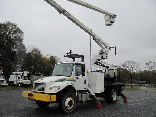 Terex/HiRanger XT60/70, Over-Center Elevator Bucket Truck mounted behind cab on 2012 Freightliner M2