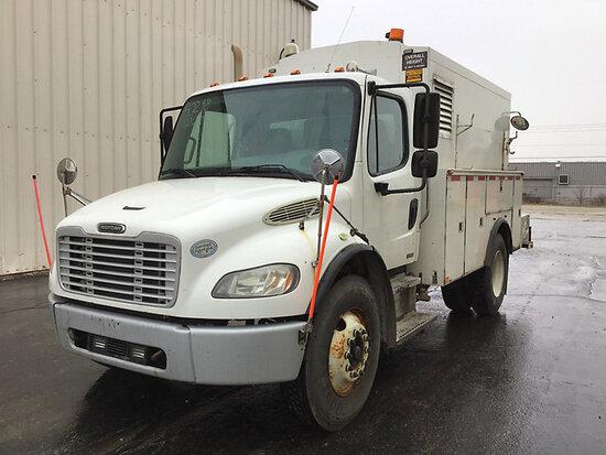 2009 Freightliner M2 106 Enclosed Utility/Air Compressor Truck Runs, Moves, Weak Batteries, Rust