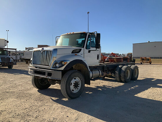 2013 International 7400 6x6 Cab & Chassis Runs with Jump Start, Moves, Check Engine Light On