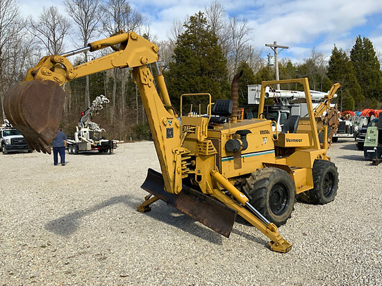 1999 Vermeer V8550A Rubber Tired Trencher runs, moves & operates