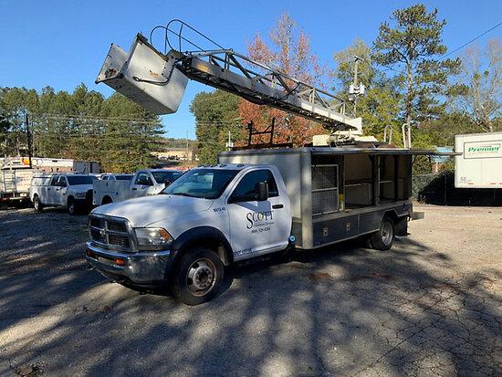 Telelift- Warick Ladders TTS405GY, Ladder Truck rear mounted on 2012 Dodge RAM D5500 Lamplighter Tru