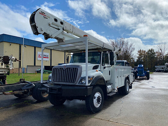 Terex/Telelect HiRanger 5TC-55, Bucket Truck center mounted on 2013 International 7300 4x4 Utility T