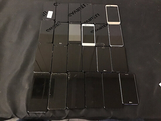 24 LG cellphones | possibly locked | some have damage | reactivation status unknown (Used ) NOTE: Th