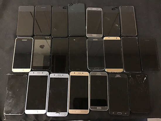 22 Samsung cellphones | possibly locked | some damaged | reactivation status unknown (Used ) NOTE: T