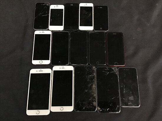 15 iPhones | possibly locked | some damaged | reactivation status unknown (Used ) NOTE: This unit is