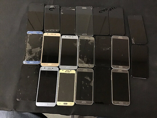 20 Samsung cellphones | possibly locked | some have damage | reactivation status unknown (Used ) NOT