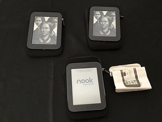 Nook e readers (Used) NOTE: This unit is being sold AS IS/WHERE IS via Timed Auction and is located