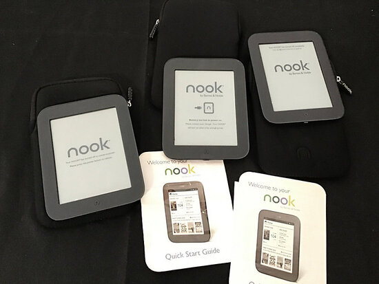 3 nook e readers (Used) NOTE: This unit is being sold AS IS/WHERE IS via Timed Auction and is locate