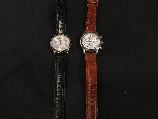 2 watches (Used | authenticity unknown ) NOTE: This unit is being sold AS IS/WHERE IS via Timed Auct