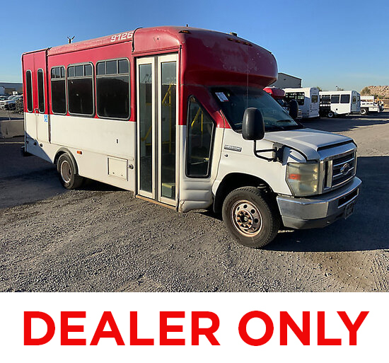 2008 Ford E450 Passenger Bus DEALER ONLY! NO RETAIL BUYERS! runs rough, moves, body damage, missing