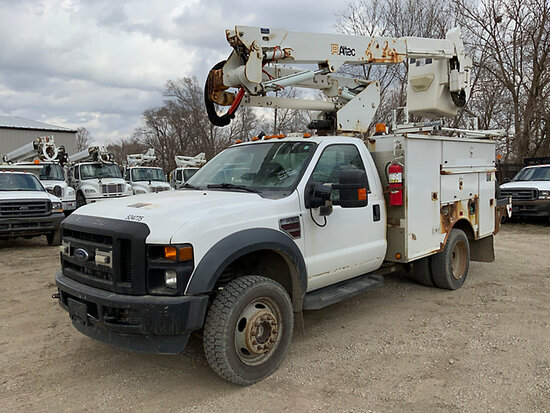 (Des Moines, IA) Altec AT37G, Articulating & Telescopic Bucket Truck mounted behind cab on 2008 Ford