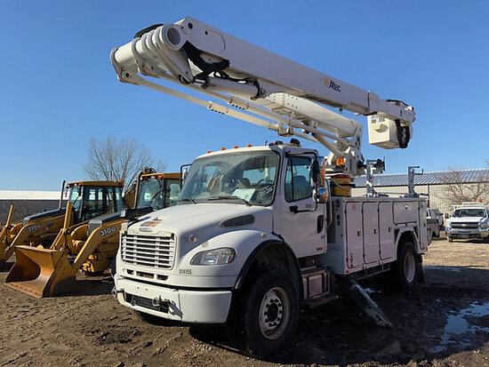 (Des Moines, IA) Altec TA60, Articulating & Telescopic Material Handling Bucket Truck center mounted