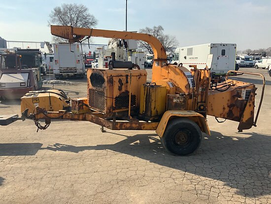 "(South Beloit, IL) Wood Chuck 1200K Chipper (12"" Disc), trailer mtd cranks, does not start, conditio"