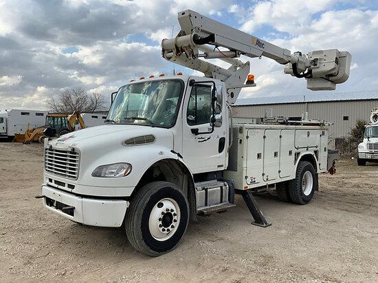 (Des Moines, IA) Altec TA41M, Articulating & Telescopic Material Handling Bucket Truck mounted behin
