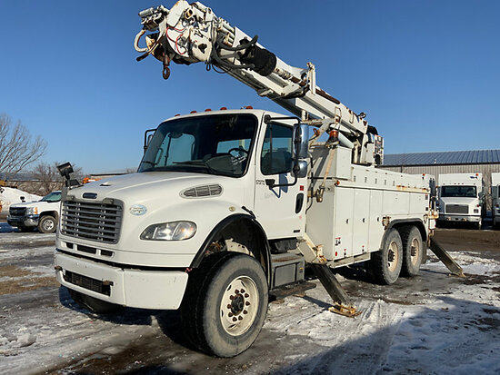 (Des Moines, IA) Altec DM45-BR, Digger Derrick rear mounted on 2009 Freightliner M2 106 T/A Utility