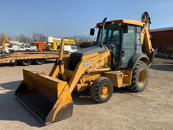 (Des Moines, IA) 2004 John Deere 310G 4X4 Tractor Loader Extendahoe No Title, runs, moves, operates