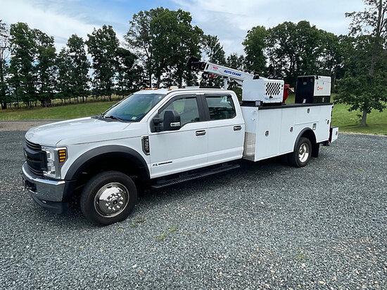(Concord, NC) 2018 Ford F550 4x4 Crew-Cab Mechanics Service Truck Runs, Moves & Crane Operates) (Rem