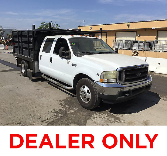 2003 Ford F350 Crew-Cab Stake Truck DEALER ONLY! NO RETAIL BUYERS!  Engine knock, runs and moves