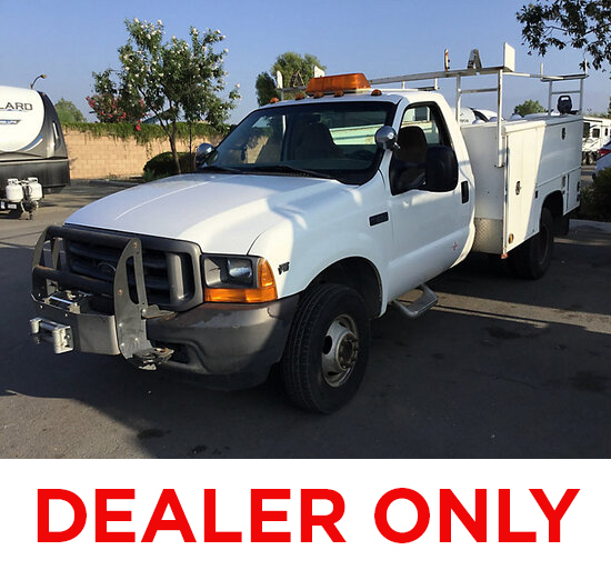 2001 Ford F350 4x4 Utility Truck DEALER ONLY! NO RETAIL BUYERS! body damage, runs rough, loses power