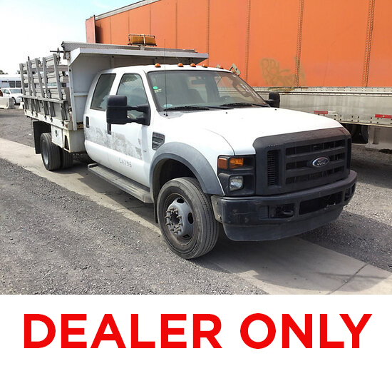 2008 Ford F550 Crew-Cab Stake Truck DEALER ONLY! NO RETAIL BUYERS! not running, will not start, disc