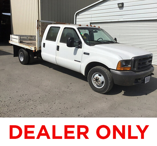 2000 Ford F350 Crew-Cab Flatbed Truck DEALER ONLY! NO RETAIL BUYERS! may be subject to arb regulatio
