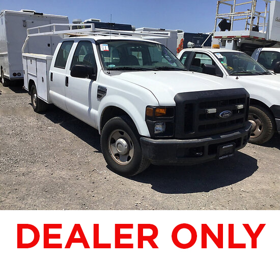 2008 Ford F350 Crew-Cab Service Truck DEALER ONLY! NO RETAIL BUYERS! needs evap purge solenoid runs