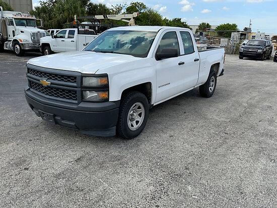 (West Palm Beach, FL) 2014 Chevrolet C1500 Crew-Cab Pickup Truck Runs, Operates, Check engine light