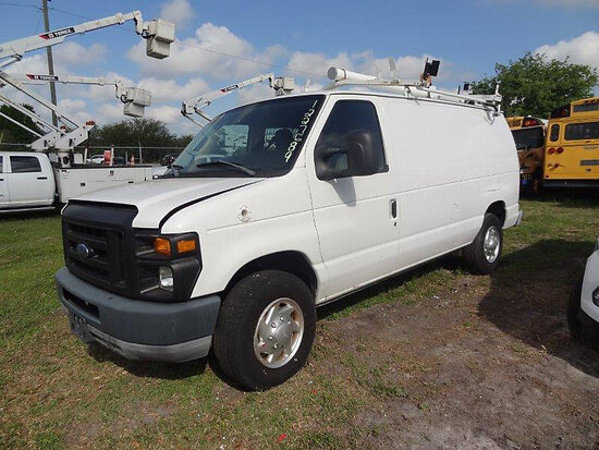 (Clearwater, FL) 2010 Ford E250 Cargo Van Not Running, Condition Unknown, Cranks, Minor Body Damage