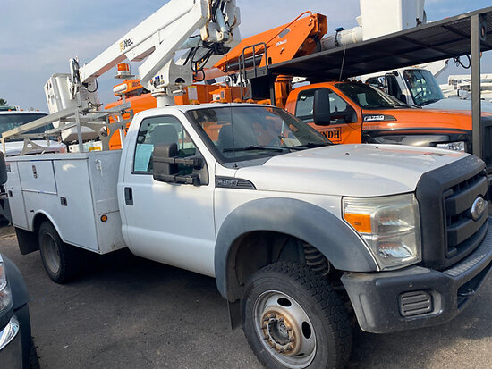 (Aurora, CO) Altec AT200A, Telescopic Non-Insulated Bucket Truck mounted behind cab on 2011 Ford F45