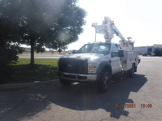(Aurora, CO) Altec AT235, Articulating & Telescopic Non-Insulated Bucket Truck mounted behind cab on