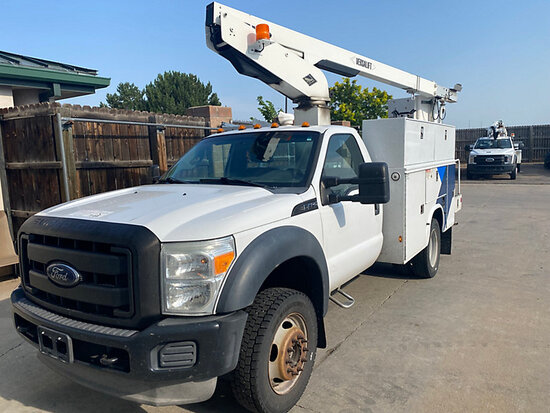 (Aurora, CO) Versalift TEL29N03, Telescopic Non-Insulated Bucket Truck mounted behind cab on 2012 Fo