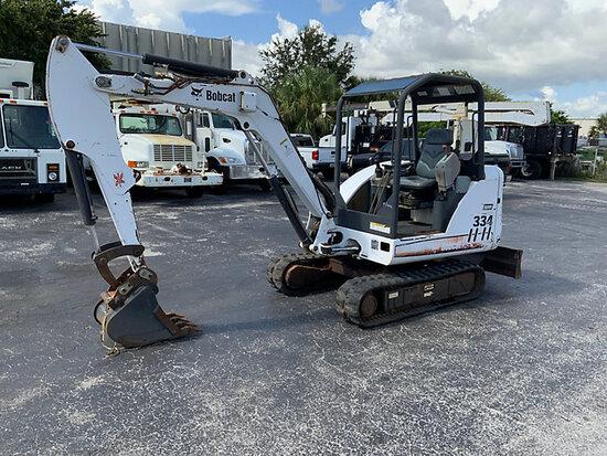(West Palm Beach, FL) 2006 Bobcat 334 Mini Hydraulic Excavator Runs , moves and operates