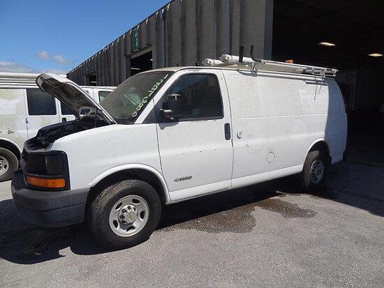 2005 Chevrolet G2500 Cargo Van runs & moves, no oil pressure, minor body damage