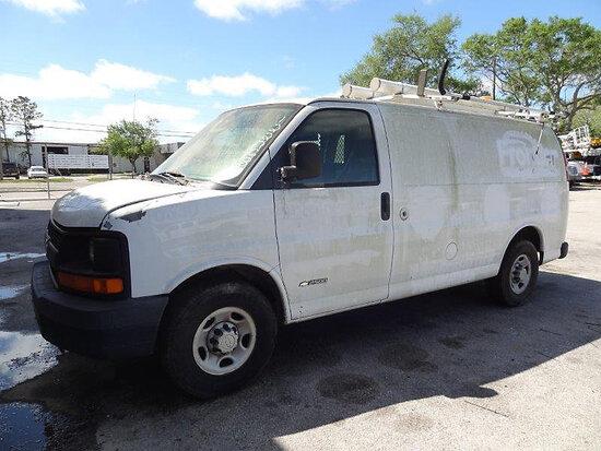 2006 Chevrolet G2500 Cargo Van runs & moves, minor body damage