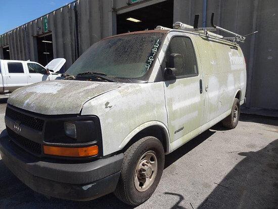2005 Chevrolet G2500 Cargo Van runs & moves but will not stay running. Runs rough. Minor body damage