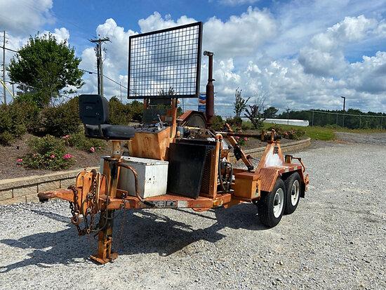 (Villa Rica, GA) 1993 TSE DPT30B Single-Drum Puller, trailer mtd (AL Power Unit) Runs On Ether, Pull