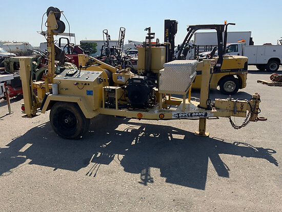 2007 Sherman & Reilly Duct Dawg DDH-75-T Underground Cable Puller, trailer mtd runs