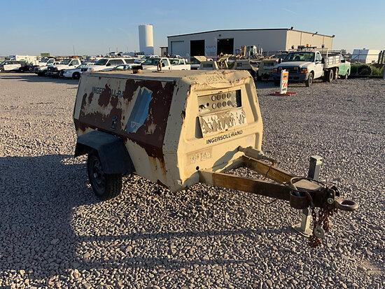 1995 Ingersoll Rand P175BWD Portable Air Compressor, trailer mtd Runs & Operates, No Title