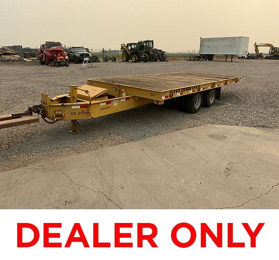 19xx Zieman 2320 T/A Tilt Bed Tagalong Equipment Trailer DEALER ONLY, No vin#, No Title