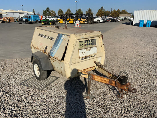 1995 Ingersoll Rand P175BWD Portable Air Compressor, trailer mtd Not Running, Condition Unknown, No