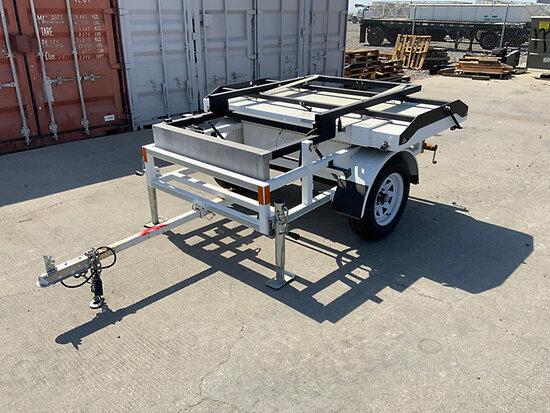 2014 Litesys 1030F4RW Portable Solar Speed Detector Board, trailer mtd unknown, missing pieces inclu